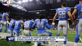 Local civil rights activists plan protests outside Ford Field over national anthem controversy