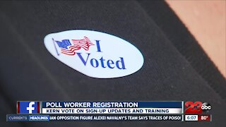 Kern Vote still looking to sign up poll workers ahead of Election Day