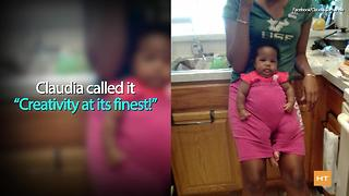 Mom shares photo of niece's hilarious babysitting hack - Video