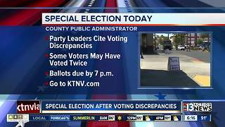Special election taking place today - Video