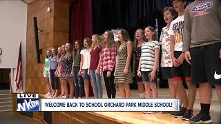 Orchard Park Middle School Select Chorus performs on 7 Eyewitness News