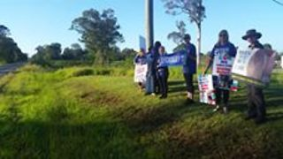 Animal Rights Activists Protest Outside Queensland Abattoir - Video