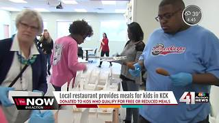 Restaurant donates 600 meals to KCKPS students