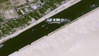 Suez Canal Still Blocked By Cargo Ship