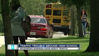 Neighbors concerned about traffic dangers during Hillsborough High pickup and dropoff - Video