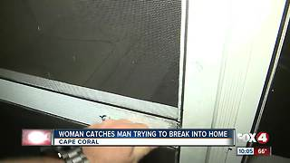 Woman scares of would-be intruder in Cape Coral - Video