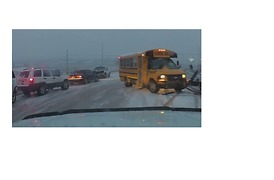 Multi-Vehicle Crash Snarls Traffic on Snowy Casper Highway - Video