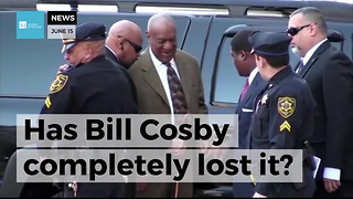 Cosby Voices One Of His Popular Cartoon Characters As He Leaves The Courthouse