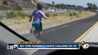 Boy does dangerous dance challenge on I-15 - Video