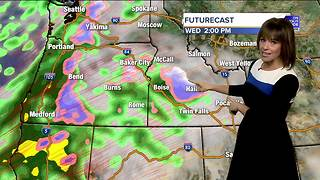 Rain will pummel SW Idaho late Wednesday with wintry weather in the mountains - Video