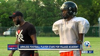 Armless football player Jamarion Styles fueled by adversity