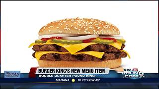 Burger King has a new King burger - Video