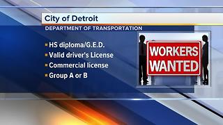City of Detroit hiring DDOT bus drivers - Video