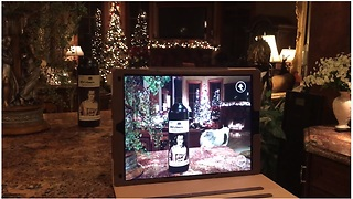 Augmented reality talking red wine bottle - Video