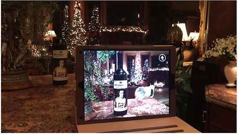 Augmented reality talking red wine bottle