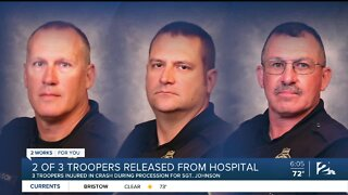 2 of 3 troopers released from hospital after crash