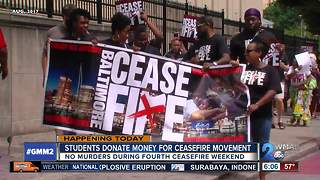 Local students raise money for ceasefire movement