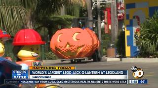 World's Largest LEGO Jack-O-Lantern at LEGOLAND - Video