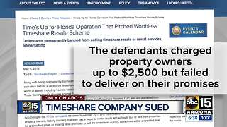 Timeshare company sued, accused of charging customers more than advertised - Video