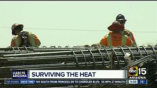 ADOT helping workers stay cool during heat wave - Video