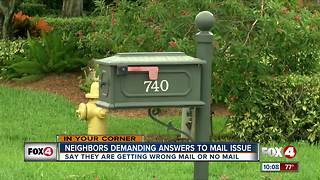 Mail delivery problems in North Naples