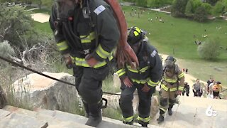 Boise Fire Department participating in LLS Firefighter Stairclimb at Camel's Back Park