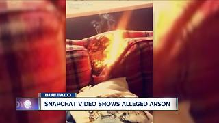 Snapchat video shows alleged arson - Video