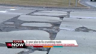 5-year plan to fix crumbling roads - Video
