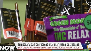 Temporary ban on recreational marijuana businesses