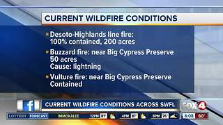 Wildfires across Southwest Florida - Video