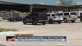 Customer dies after recycling plant accident - Video