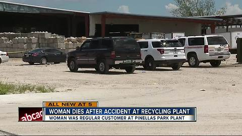 Customer dies after recycling plant accident