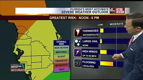 Stormy Friday: Severe weather possible in Tampa Bay area on Friday