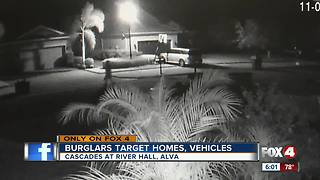 Burglars target homes and cars in new community - Video