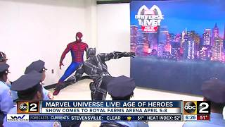 Marvel Universe Live! teach local kids to 'Train Like A Superhero' - Video