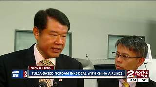 Tulsa-based NORDAM inks maintenance deal with China Airlines - Video