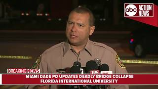 Miami Dade PD gives update on deadly bridge collapse | 5AM Press Conference - Video