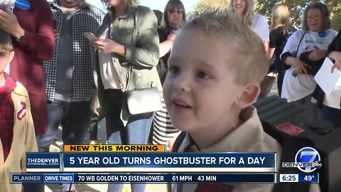 5-year-old turns into a Ghostbuster for a day