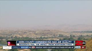 Wildfire smoke and haze brings an air quality alert to Kern County - Video