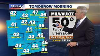 Cooler and sunny Wednesday