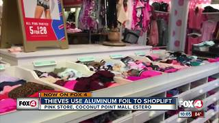 Thieves use aluminum foil to shoplift - Video