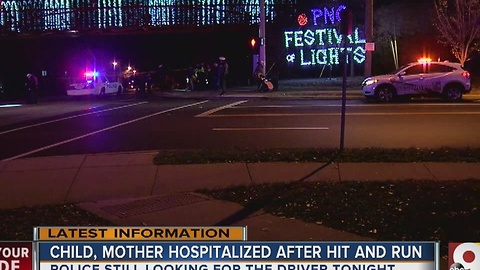 Mother, child hospitalized after hit and run