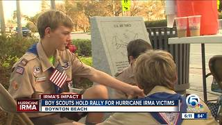 Local Boy Scouts hold rally for Hurricane Irma victims - Video