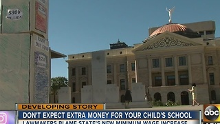 Lawmakers blame Arizona's new minimum wage increase for stagnant education budget - Video
