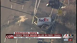 FedEx truck driver dies in I-435 SB crash - Video