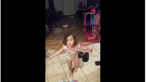 Little Girl Makes A Passionate Defense When Confronted About Her Mess