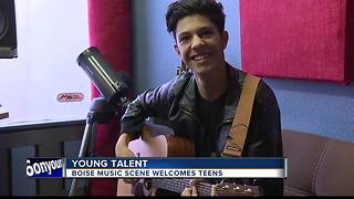Boise music scene welcomes young artists - Video
