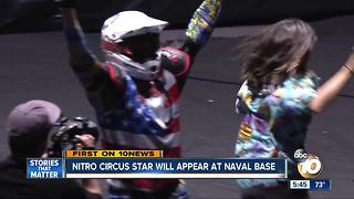 Nitro Circus star will appear at Naval Base - Video