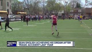 Sean English achieving his dream after tragic accident - Video