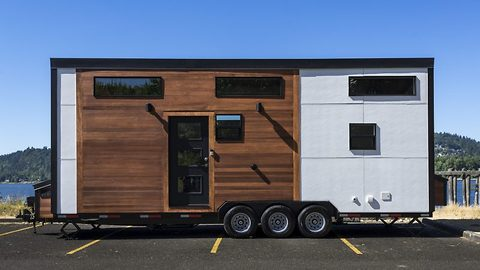 Luxury tiny home on wheels boasts all the fittings of a fully furnished full sized two bed flat